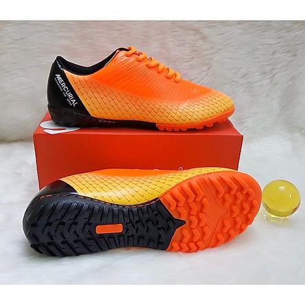 Giày đá bóng sân cỏ nhân tạo N200 đế cao su khâu full đế