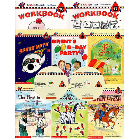 Scholastic Phonics Booster Books : Box Set Level 9 (Include 6 Books, 2 Workbooks and 2 Audio CDs)