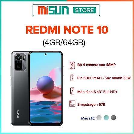 Điện Thoại Xiaomi Redmi Note 10 (4GB/64GB) - Hàng Chính Hãng