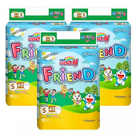 Combo 3 Tã Quần Goo.n Friend Gói Cực Đại S62 (62 Miếng)
