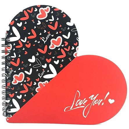 Bộ 2 Sổ Lò Xo Love Gift (17x17cm) - Mẫu 3