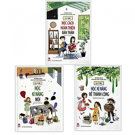 Combo 3 Cuốn Sách Kỹ Năng Vàng Cho Học Sinh Trung Học - Học Cách Hoàn Thiện Bản Thân + Học Kỹ Năng Nói + Học Kỹ Năng Để Thành Công - (Tặng Kèm Bookmark Phương Đông)