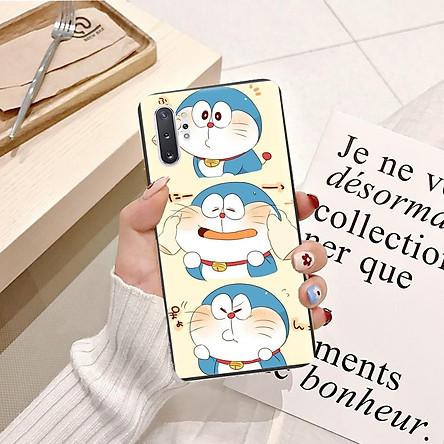 Ốp lưng điện thoại Samsung Galaxy Note 10 Plus viền silicon dẻo TPU  hình Doremon Làm Duyên - Hàng chính hãng