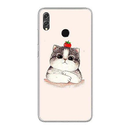 Ốp lưng dẻo cho điện thoại Huawei Honor 8X - 0489 CAT05 - Hàng Chính Hãng