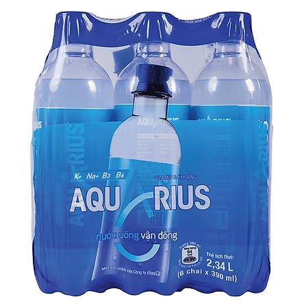 Lốc 6 Chai Nước Uống Thể Thao Aquarius (390ml / Chai)