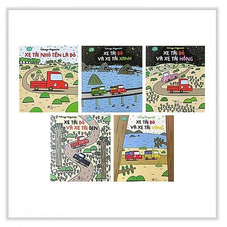 Combo Ehon Mẫu Gíao (Bộ 5 Cuốn): Xe Tải Nhỏ Tên Là Đỏ, Xe Tải Đỏ Và Xe Tải Xanh, Xe Tải Đỏ Và Xe Tải Hồng, Xe Tải Đỏ Và Xe Tải Đen, Xe Tải Đỏ Và Xe Tải Vàng - Tặng kèm bookmark PĐ