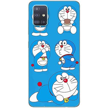 Ốp lưng dành cho Samsung A51 mẫu Doraemon ham ăn