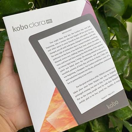 Máy đọc sách Kobo Clara HD - 8GB màu đen - màn hình 6 inch - có đèn cam- Hàng Nhập Khẩu
