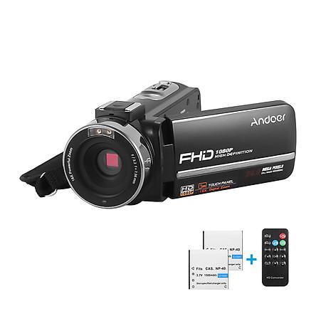 Máy Quay Video Kỹ Thuật Số IR Andoer HDV-301LTRM Ghi Âm DV Màn Hình Cảm Ứng Kèm 2 Pin (24MP 16X Digital Zoom) (3.0 Inch) (1080P FHD)