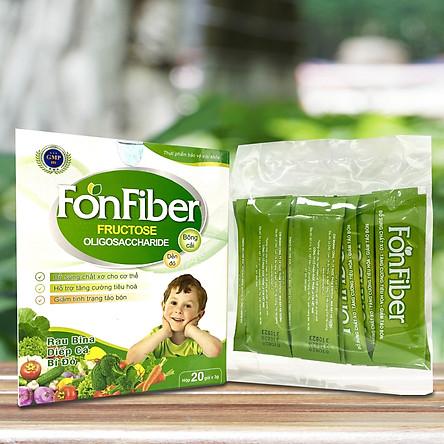 Viên Uống hỗ trợ trị táo bón cho bà bầu và trẻ nhỏ, bổ sung chất xơ cho cơ thể, hỗ trợ tăng cường tiêu hóa Fon Fiber - Hàng chính hãng