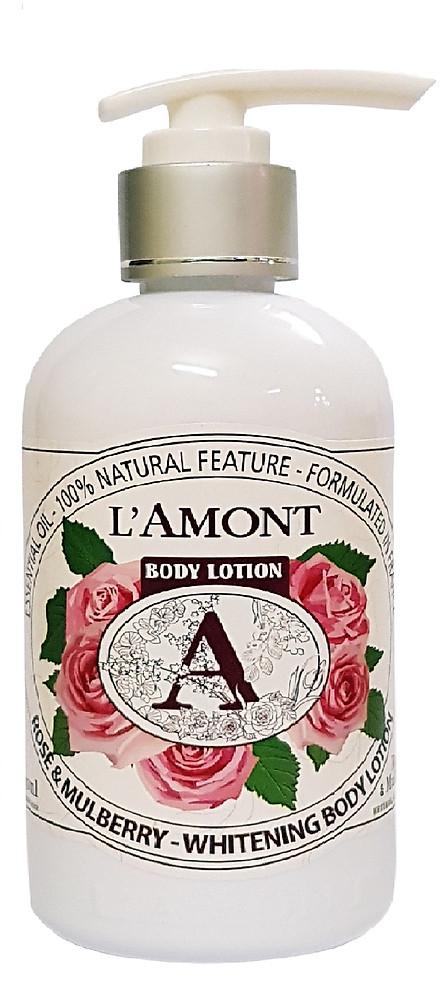 Sữa Dưỡng Thể L'amont En Provence Rose & Mulbery Whitening Body Lotion Hương Hoa Hồng Chai 250ml