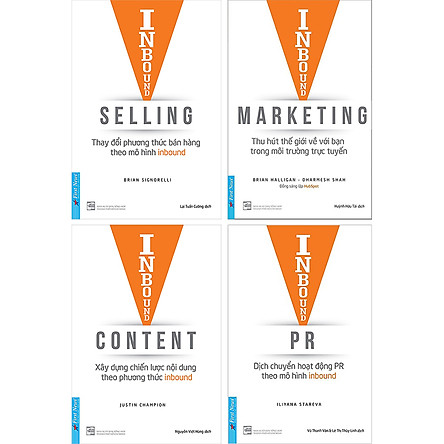 Combo Inbound Marketing + Inbound Selling + Inbound Content + Inbound PR (4 cuốn)