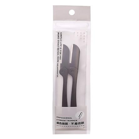 Bộ 2 dao cạo tỉa lông mày Eyebrow Trimmer - Đen