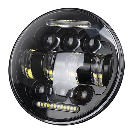 Car LED Headlight Bulbs LED Driving Lamp 5.75 Inch 66W Headlamps with White DRL High/Low Beam for JEEP Wrangler JK