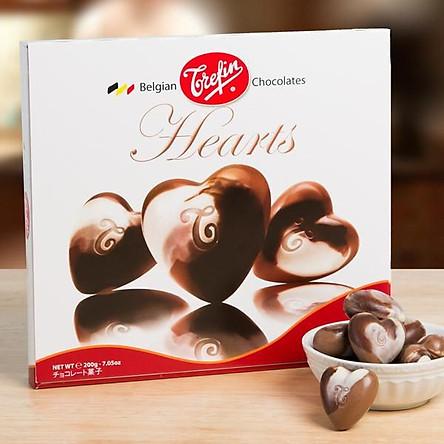 Socola Trefin Chocolate Hearts Giftwrap (hình trái tim) 200g