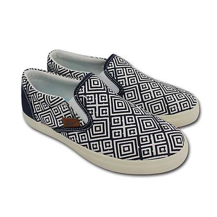 Giày Slip On Nữ D&A L1604  - Xanh Chàm