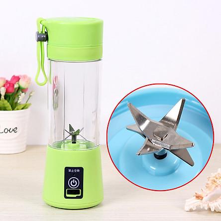 Portable 6 Blades USB Charging Eletric Fruit Juicer Blender
