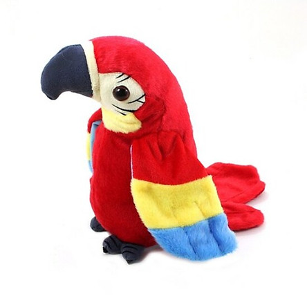 A parrot doll that imitates what it says