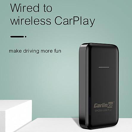 Carlinkit kích hoạt Apple Carplay không dây Phiên bản thế hệ thứ 2.0 Kết nối Carplay không dây nhanh hơn, ổn định hơn. Dễ sử dụng Không cần tháo lắp màn hình, cắm thiết bị vào cổng USB hỗ trợ Carplay và kết nối.