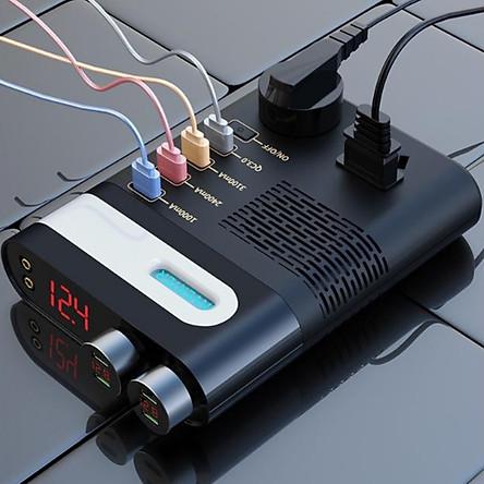 Bộ Chuyển Đổi Đầu Ra 220V Tích Hợp Sạc Điện Thoại, Laptop Đa Năng