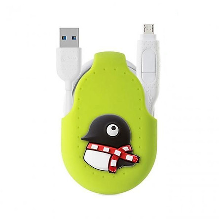 [Bone Collection] iDualink 2-in-1 Dual-head Transmission Line (Type-C)-Penguin