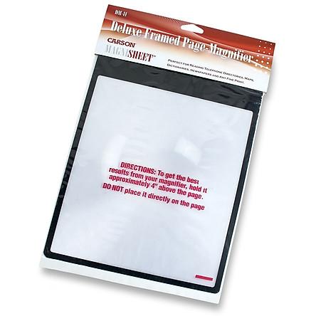 Kính lúp đọc sách cỡ lớn Carson DM-11 MagniSheet - Hàng chính hãng
