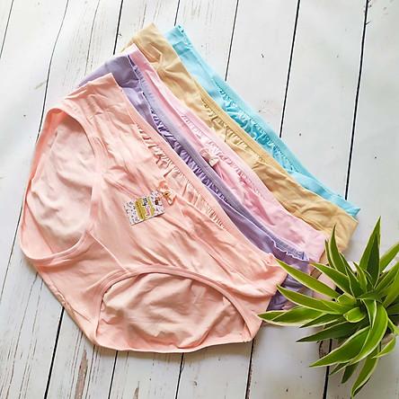 Set 5 quần lót bầu cạp chéo Cotton lụa siêu mềm mại, thoáng mát Mysexy
