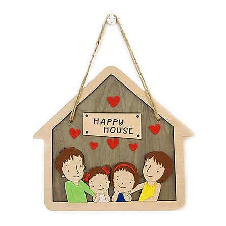 Biển treo cửa ngôi nhà hạnh phúc (Mẫu ngẫu nhiên)
