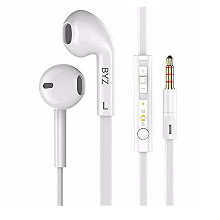 Tai nghe nhét tai BYZ S Super Bass cho IPHONE/IPAD/SAMSUNG (trắng) - Hàng chính hãng