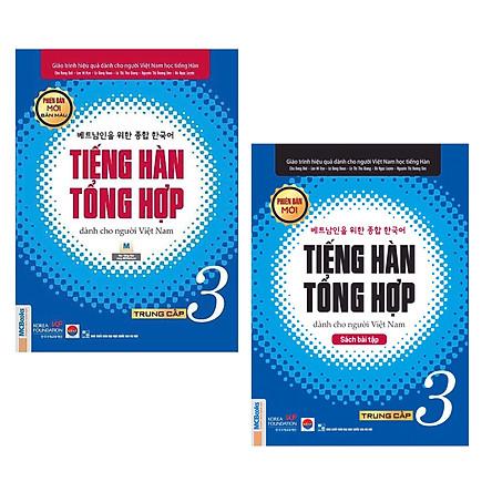 Combo Giáo Trình Tiếng Hàn Tổng Hợp Trung Cấp Dành Cho Người Việt Tập 3 (Sách Giáo Khoa + Sách Bài Tập) - In Màu / Phiên Bản Mới