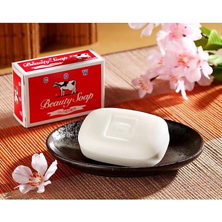 Combo 2 bánh xà bông tắm dưỡng da COW BRAND SOAP RED BOX 100g + tặng 5 túi zipper 12x17cm