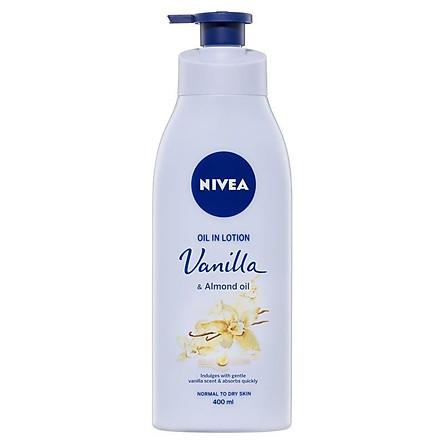 Nivea Body Oil In Lotion Vanilla Almond 400ml