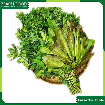 Rau rừng (gói 200gr) - Gồm nhiều loại rau tự nhiên, vị ngon đặc trưng