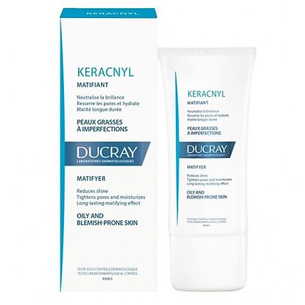 Ducray Keracnyl Matifyer: Kem Làm Giảm Bóng Nhờn, Se Nhỏ Lỗ Chân lông (30ml)