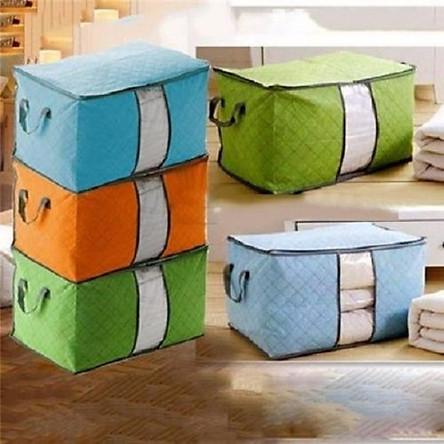 Combo 3 túi vải đựng chăn màn, quần áo đa năng - giao màu ngẫu nhiên