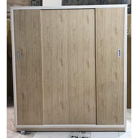 Tủ áo lùa 1m2 x 1m8 x 50 cm (màu gỗ tự nhiên)