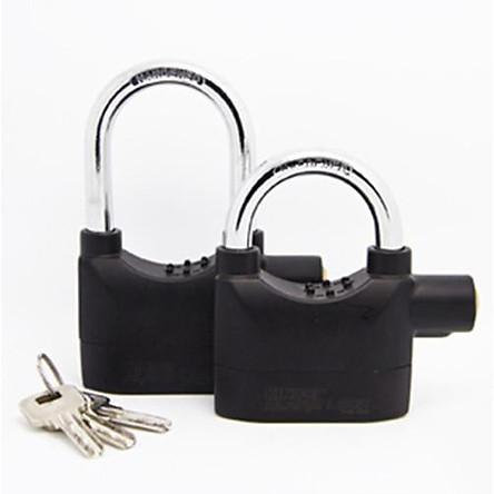 Bộ 2 khóa chống trộm thông minh màu đen