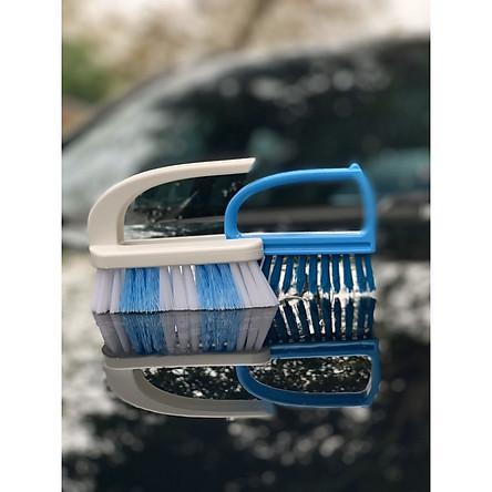 Bàn chải chà góc giặt đồ 2 trong 1 hàng nội địa  Nhật Bản