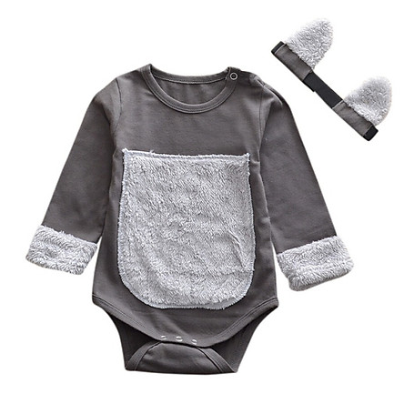 Hot New Autumn Baby Cute Clothing Sets Newborn Girl Long Sleeve Romper Headband Costume