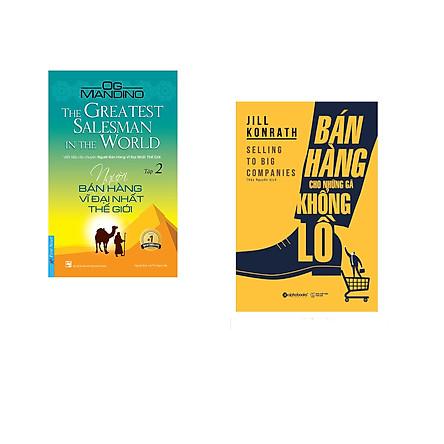 Combo 2 cuốn sách: Người Bán Hàng Vĩ Đại Nhất Thế Giới - tập 2 + Bán Hàng Cho Những Gã Khổng Lồ