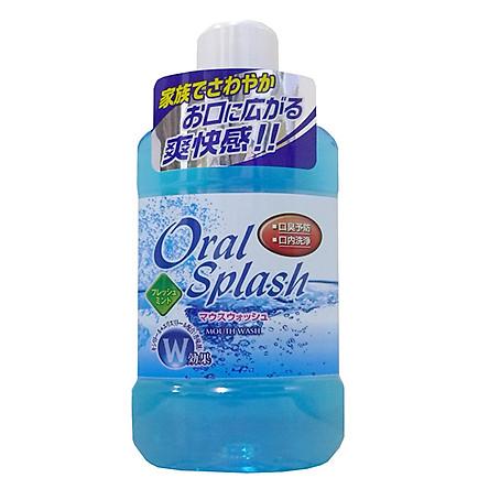 Nước súc miệng hương bạc hà Oral Splash 500ml nội địa Nhật Bản