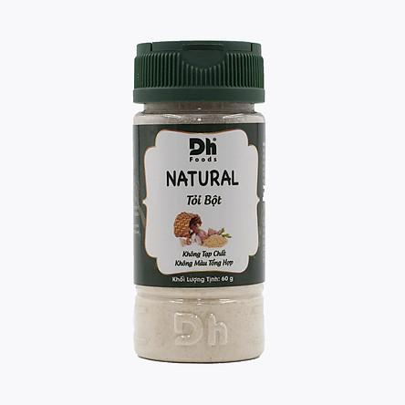 Natural Tỏi bột 60g Dh Foods - Bột tỏi nguyên chất