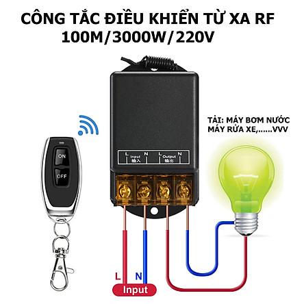 [MẪU MỚI 2020] Bộ công tắc điều khiển từ xa rf 100m/30A/220V xuyên tường công suất lớn