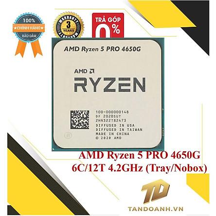 BỘ VI XỬ LÝ AMD Ryzen 5 PRO 4650G MPK 6C/12T UPTO 4.2GHz (Tray/Nobox) - CHÍNH HÃNG