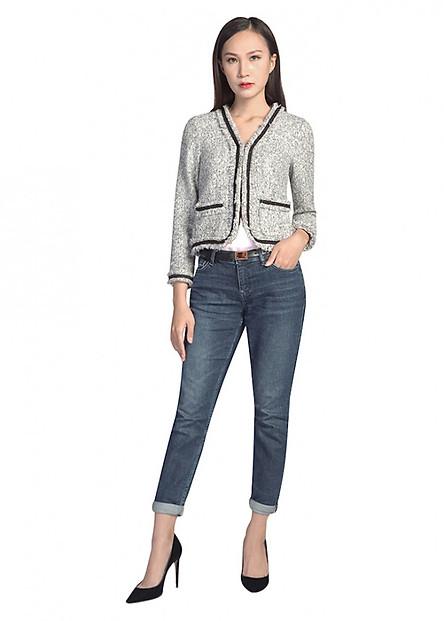 Áo Khoác Nữ Tweed Kẹp Ren De Leah AK1820122Trd