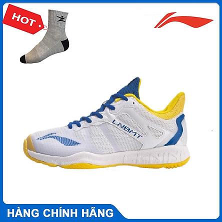 Giày cầu lông Lining AYTR011-2 chính hãng dành cho nam, mẫu mới, đế kếp, chống lật cổ chân - Tặng tất thể thao Bendu