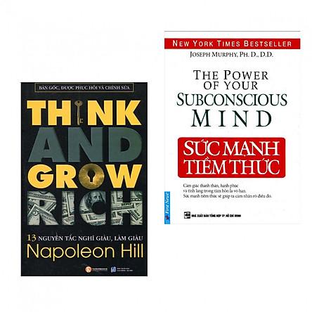 Combo 2 cuốn sách tâm đắc về kĩ năng sống: 13 Nguyên Tắc Nghĩ Giàu Làm Giàu (Think And Grow Rich) +  Sức Mạnh Tiềm Thức ( Tặng kèm bookmark PD)