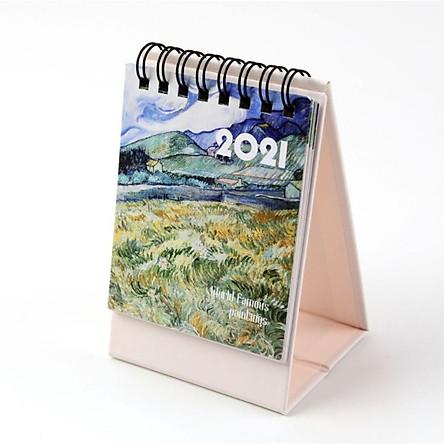 Lịch Để Bàn 2021 Tranh Phong Cảnh Tuyệt Đẹp