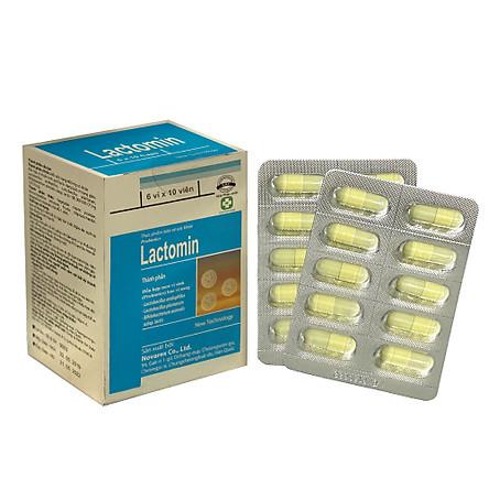 Lactomin (viên nang) bổ sung 3 loại men vi sinh có ích được bao vi nang, dùng cho người bị tiêu chảy, táo bón, dùng kháng sinh dài ngày