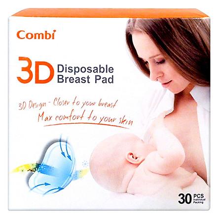 Hộp Miếng Lót Thấm Sữa 3D Thoáng Khí Combi (30Pcs)